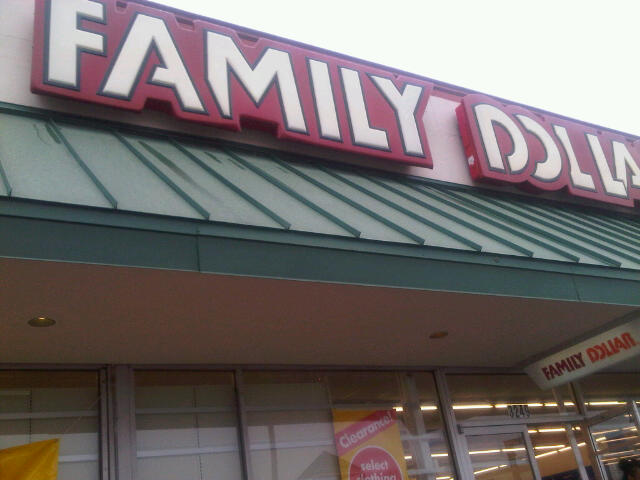 Family Dollar Store On A Rainy Day
