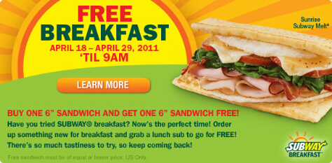 subway bogo